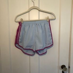 Nike Blue and Pink Running Shorts Size M